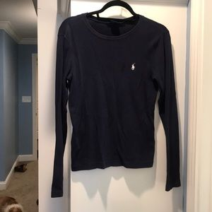 Navy blue Ralph Lauren long sleeve shirt